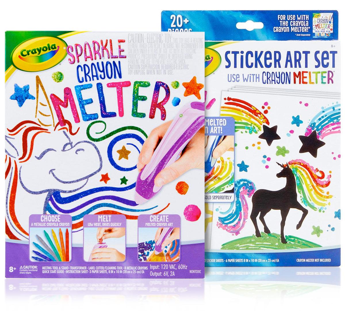 Sparkle Crayon Melter with Sticker Art Set