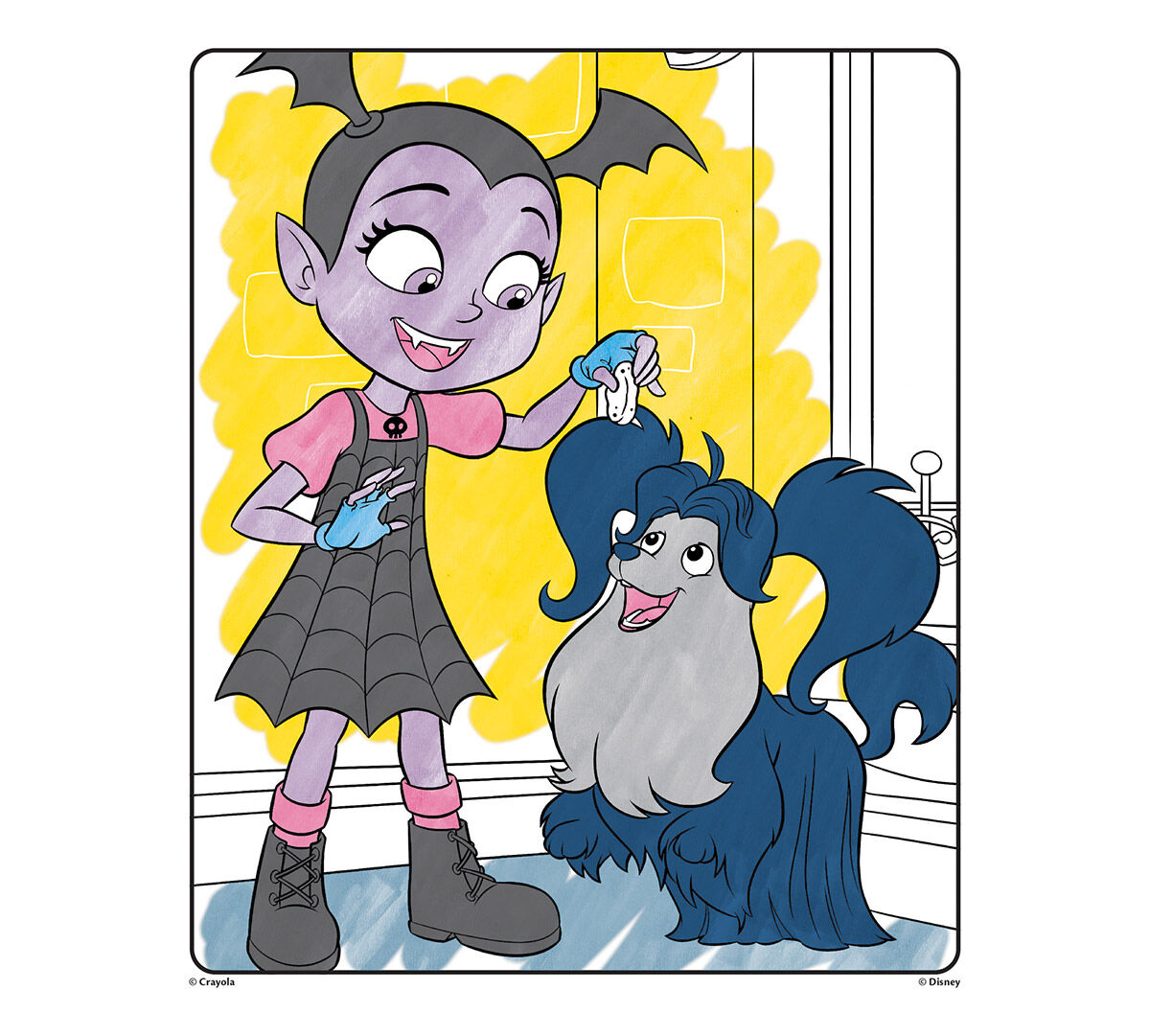 wonder coloring pages Crayola Mess Free Color Wonder, Vampirina, 18 Coloring Pages, Art  wonder coloring pages