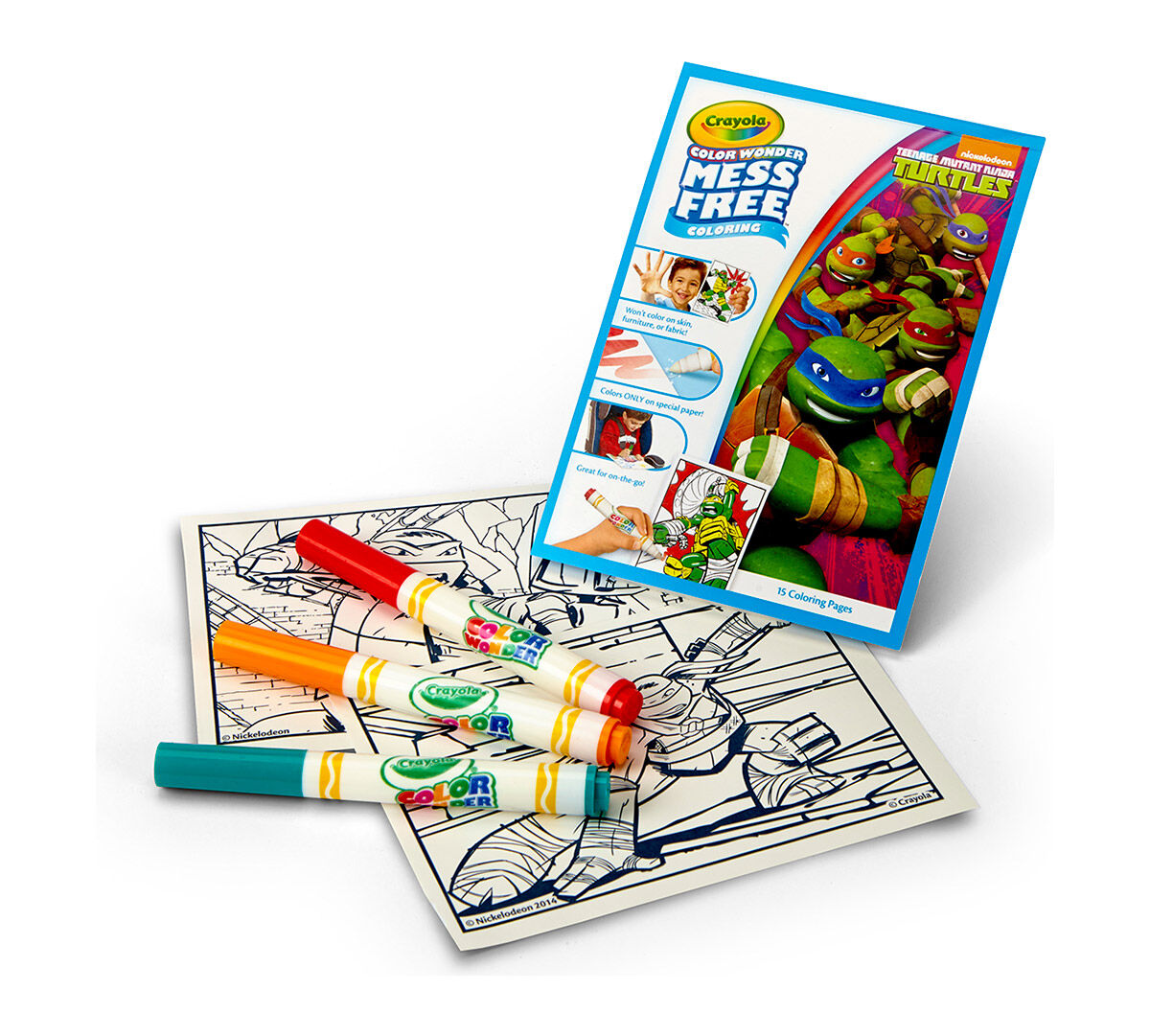 color wonder teenage mutant ninja turtle crayola
