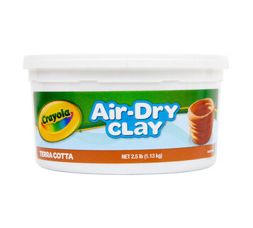 Terra Cotta Air Dry Clay Bucket 2.5 lb Front View of Package