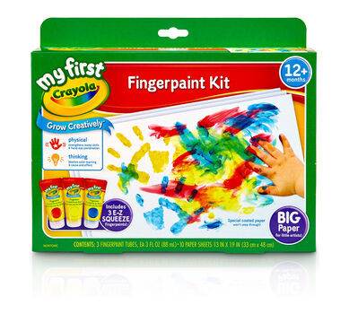 My First Crayola Fingerpaint and Paper Kit