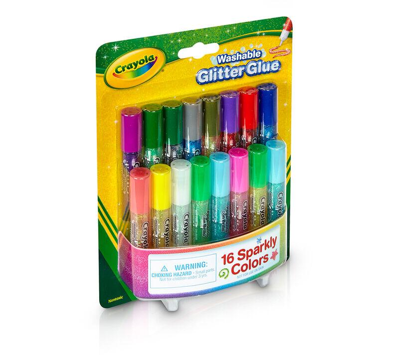Washable Glitter Glue, 16 Count