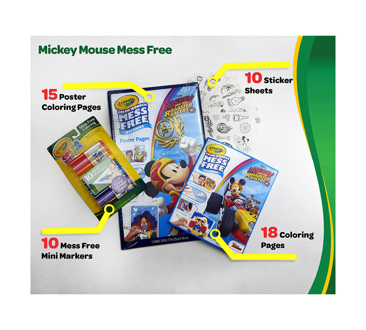 Crayola Mess Free Color Wonder Variety Bundle Posters Coloring 75 2590 Ecom Mickey Set