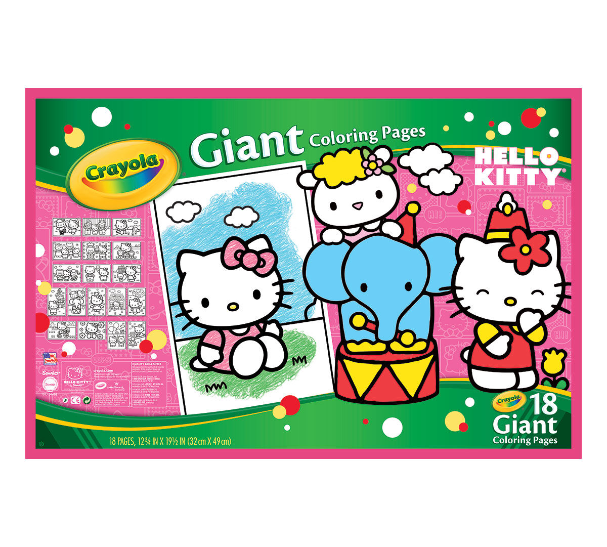 Hello Kitty Art Craft Color Coloring Fun Giant Coloring Pages