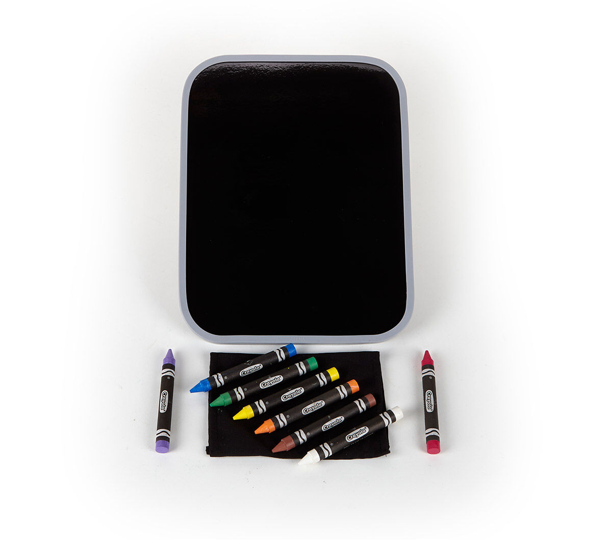 dual sided dry erase board set with bright crayons crayola