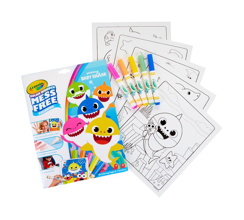 Color Wonder Mess Free Baby Shark Coloring Set