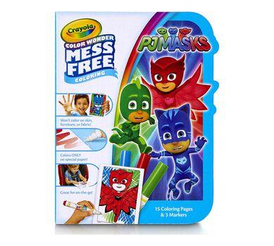 Crayola Pj Masks Color Wonder On The Go Mess Free