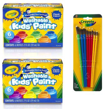 Washable Kid's Paint with Brush Set
