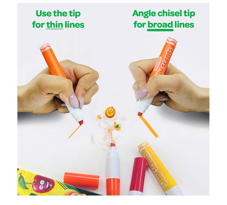 Silly Scents Chisel Tip Markers, Sweet Scents, 6 Count