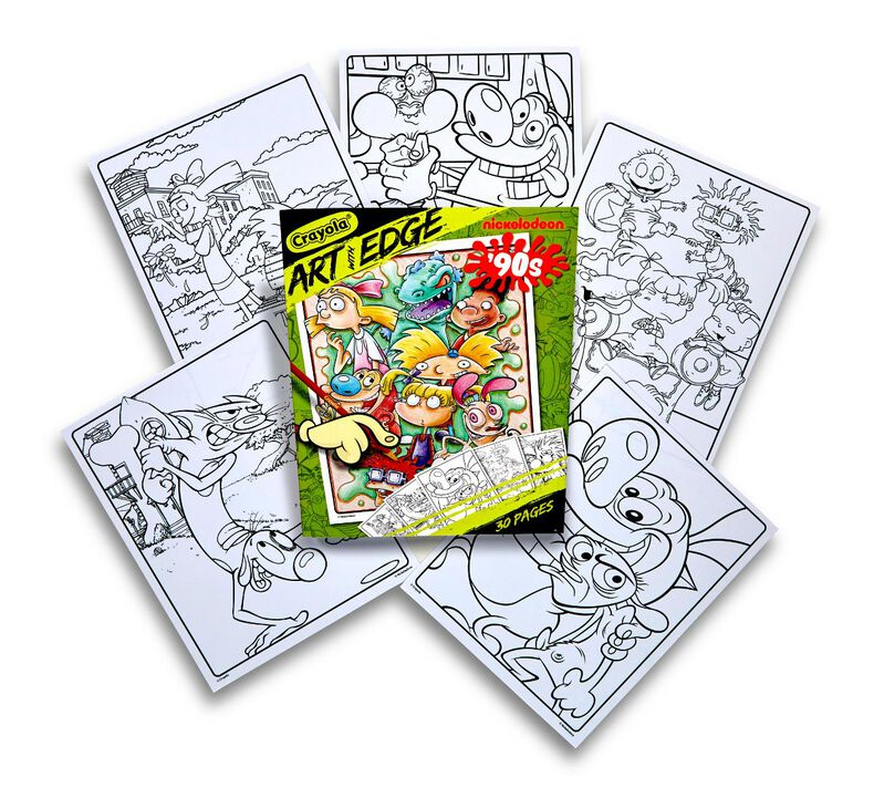 Art With Edge, Nickelodeon 90's Coloring Pages