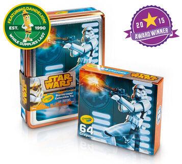 Star Wars, Stormtrooper Tin and Crayon Box