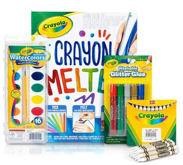 Crayon Melter Watercolor Resist Craft Kit