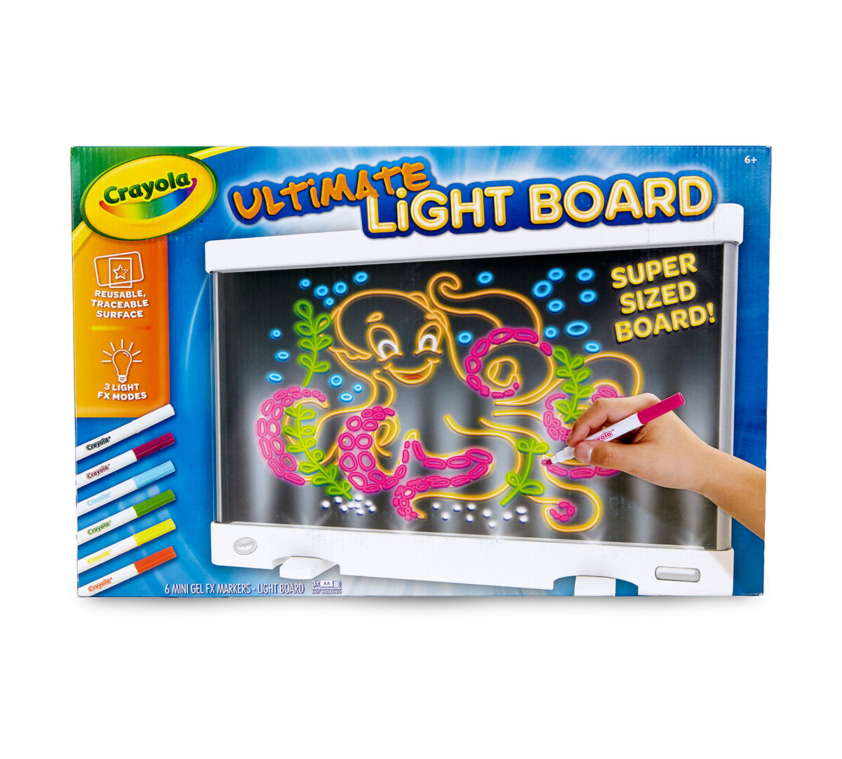 Crayola Ultimate Light Board; LED Light Up Drawing Surface