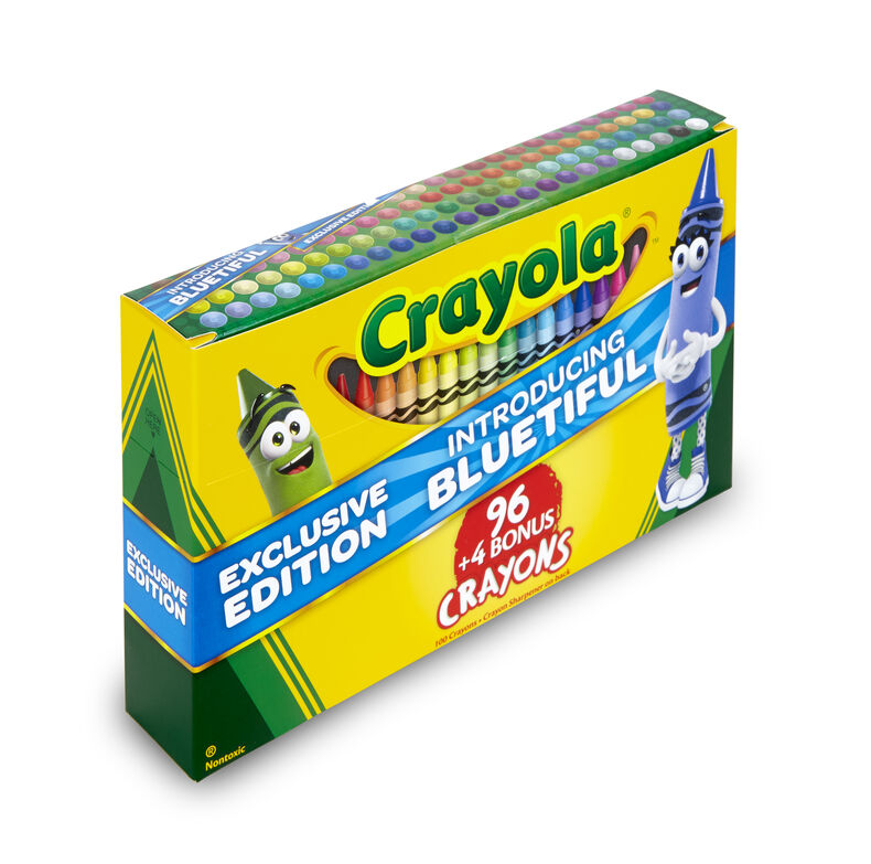 Crayola Crayons 96 ct. plus 4 bonus crayons with Bluetiful
