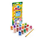 Washable Paint Pots with Brush 18 ct.