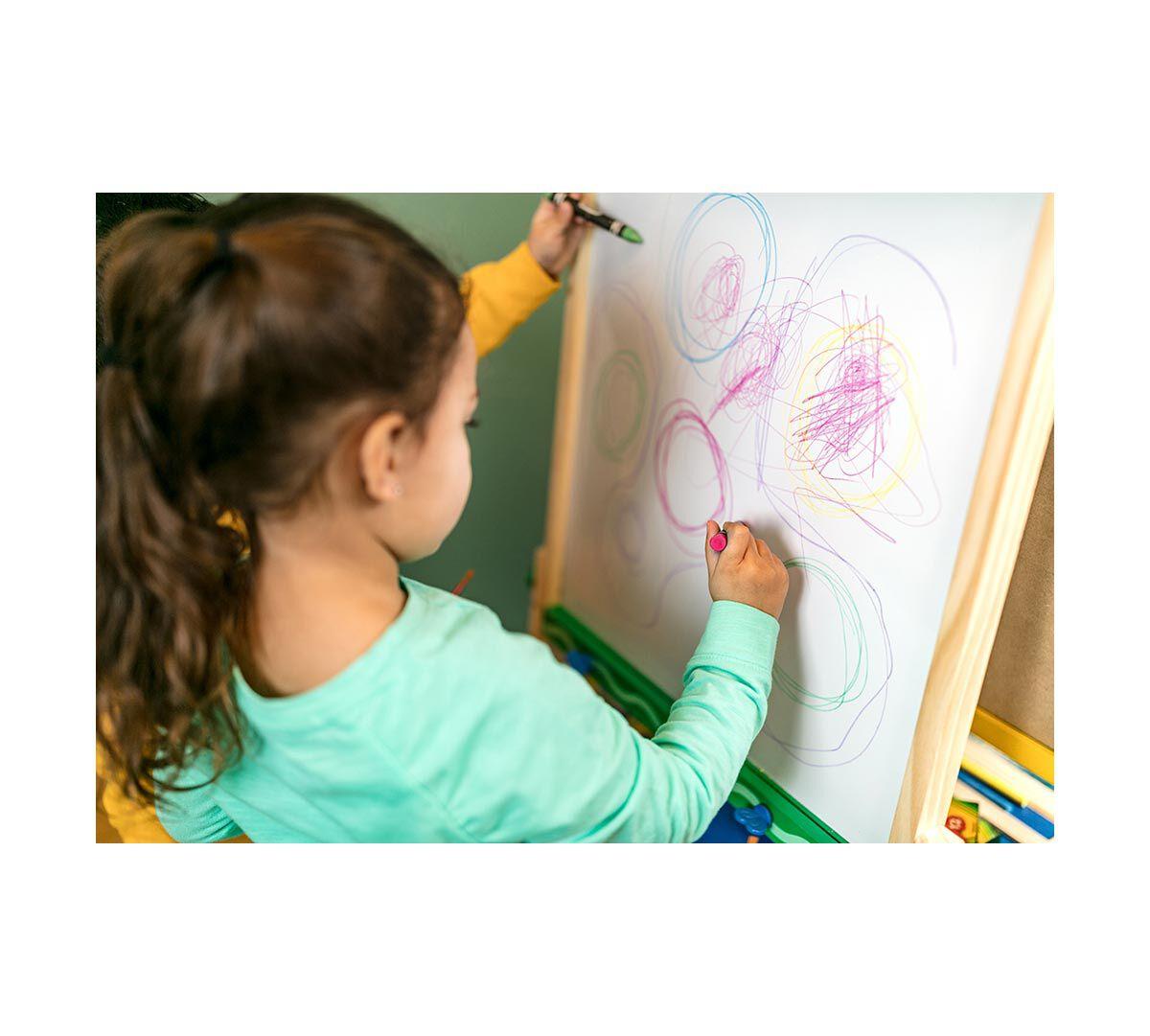 Crayola Kids Wooden Easel Dry Erase Board Chalkboard Gift For Kids Age 4567 Crayola