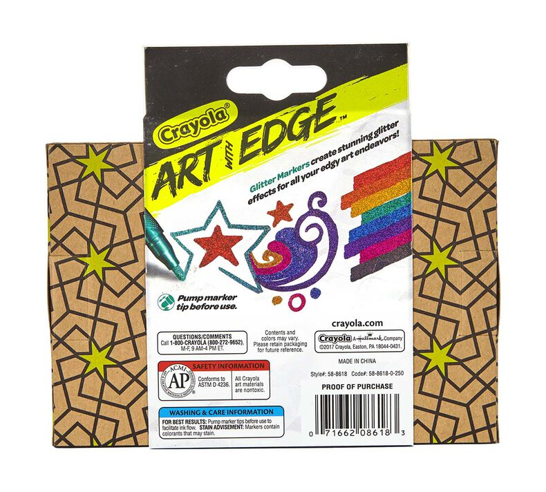 Art with Edge, 8 ct. Glitter Markers