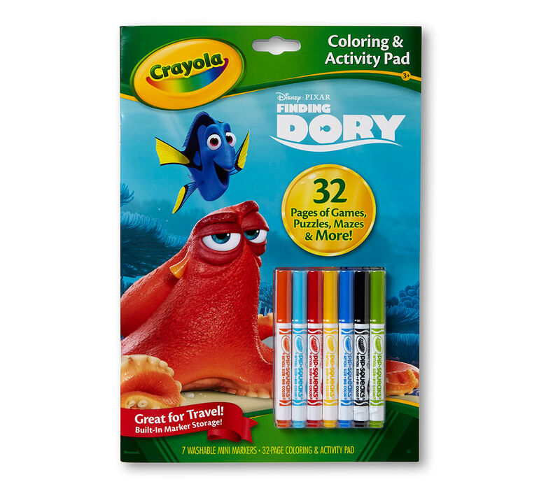 Coloring & Activity Pad with Markers Finding Dory
