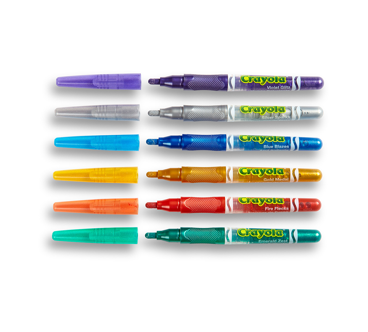 6 Count Glitter Markers