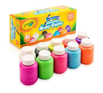 Washable Kids' Neon Paint, 10 ct.