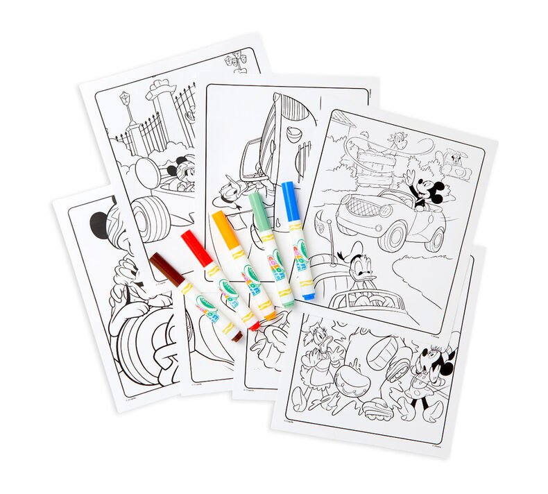 Color Wonder Mess Free Mickey Roadster Racers Coloring Pages & Markers
