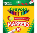 Broad Line Markers, Classic Colors 10 ct.