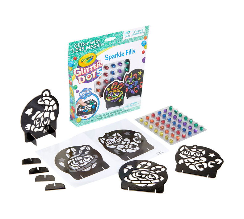 Glitter Dots 3-in-1 Craft Kit
