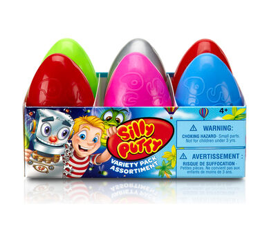 Silly Putty Eggs-Travaganza, 6 Count Assortment Pack