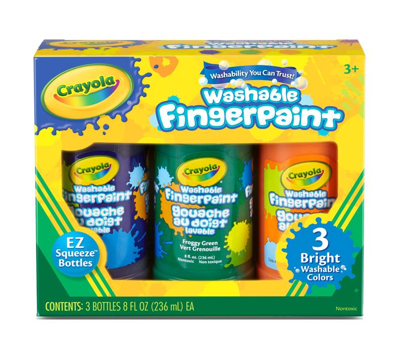 Washable Fingerpaint, Primary Colors, 3 Count
