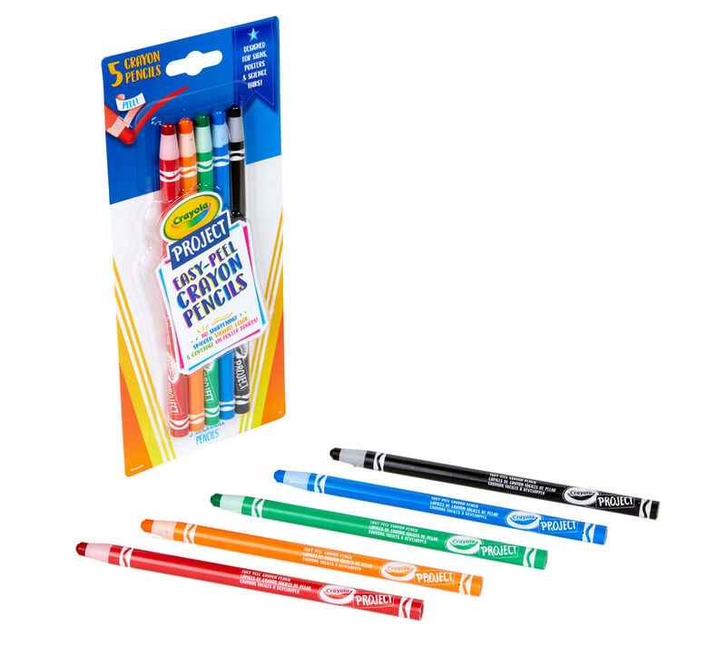 Easy Peel Crayon Pencils, 5 Count