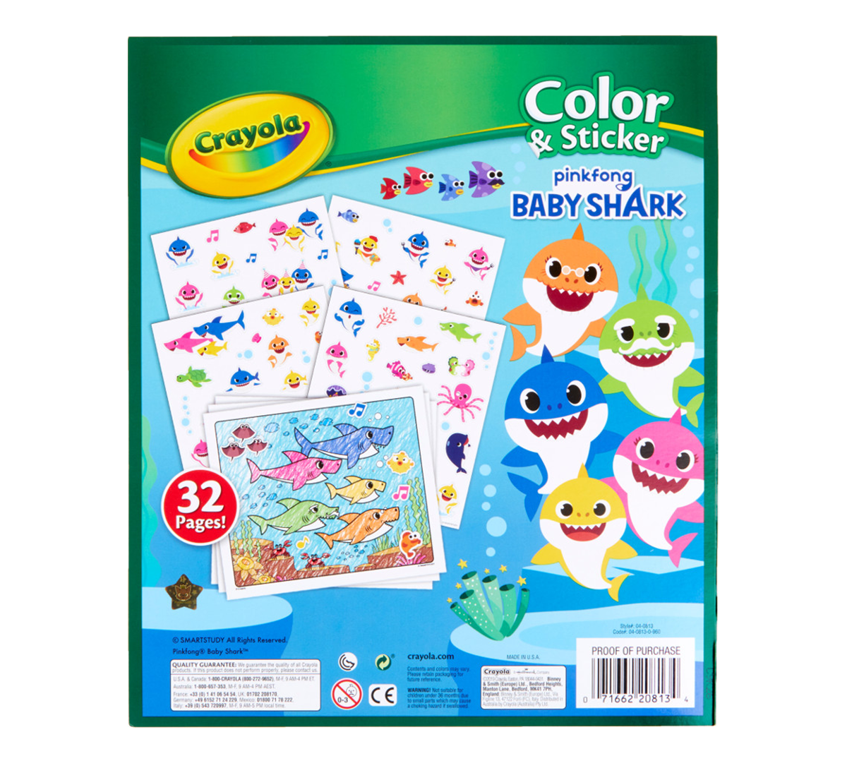 Crayola Baby Shark Coloring Pages and Stickers | Crayola ...