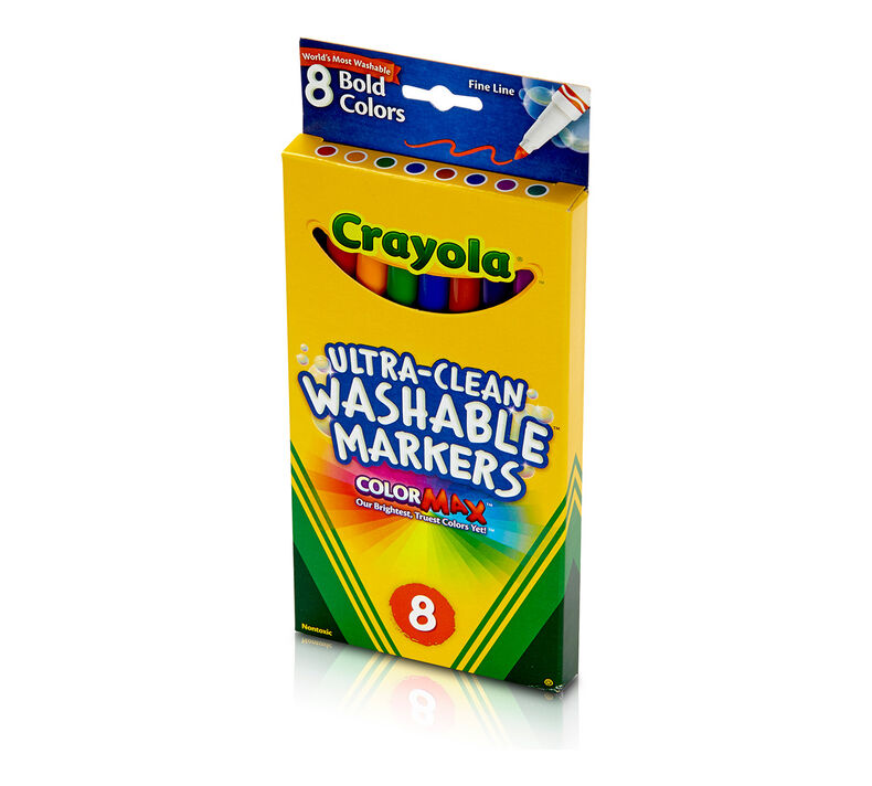 Ultra-Clean Washable Fine Line Markers, Bold Colors 8 ct.