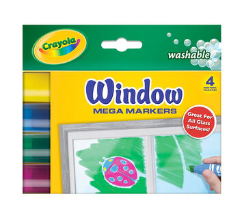 Window Mega Markers 4 ct.