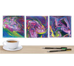 Signature Paint Pour Mini Canvas Craft Kit