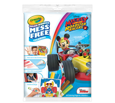 Color Wonder Mess Free Coloring Pad & Markers, Mickey and the Roadster Racers