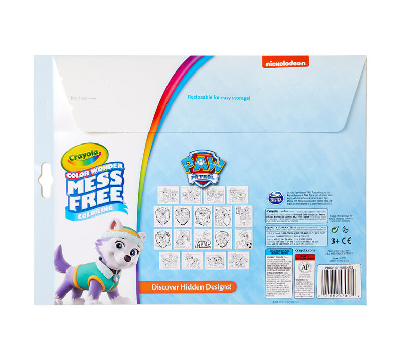 Color Wonder Mess Free Paw Patrol Coloring Pages & Markers