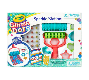 Glitter Dots Sparkle Station Front View of Box