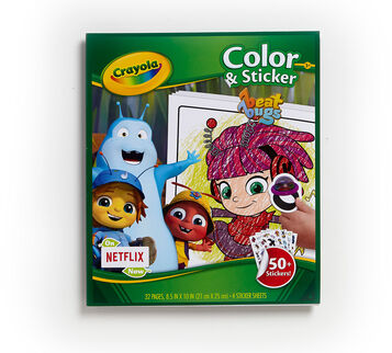 Color and Sticker Beat Bugs front cover
