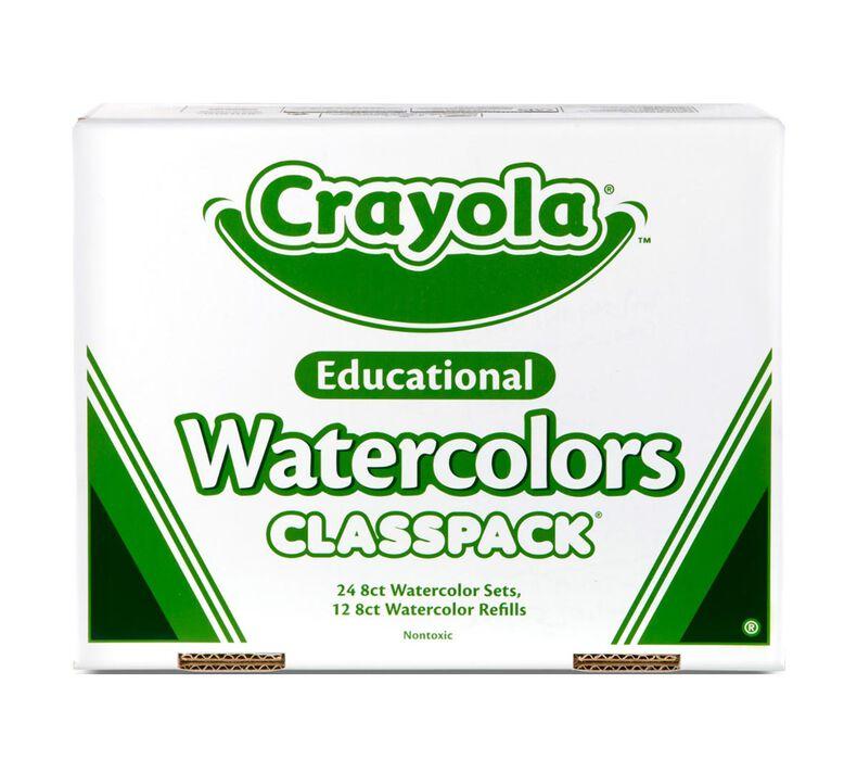 Watercolors Classpack, 24 Count, 8 Colors