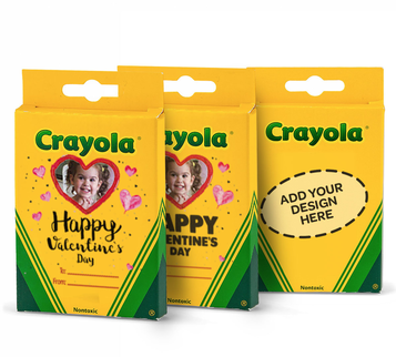 Crayola Crayons Personalized 8 Count Valentine's Day Theme