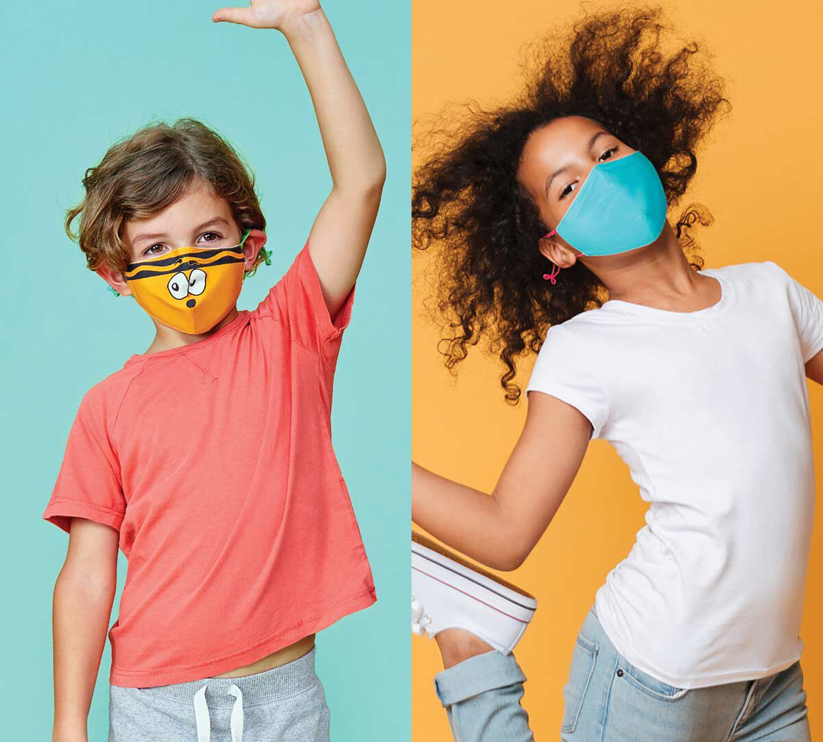Crayola Kids Reusable Cloth Face Mask Set