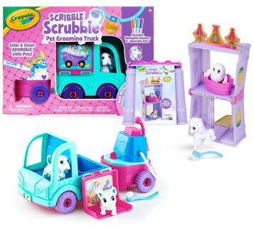 Scribble Scrubbie Pets Pet Grooming Truck & Peculiar Pets Palace Playset