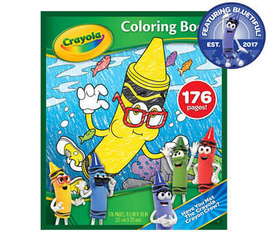 Bluetiful Crayon Coloring Book - 176 Pages