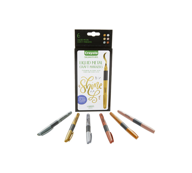 Signature Metallic Permanent Markers, 6 Count
