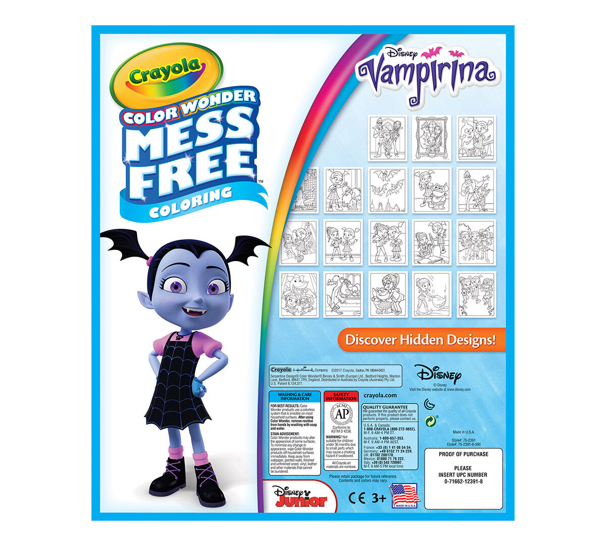 Crayola Mess-Free Color Wonder, Vampirina, 18 Coloring Pages, Art ...