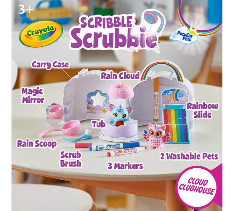 Scribble Scrubbie Pets Cloud Clubhouse Playset