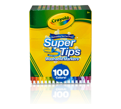 Washable Super Tips Markers, 100 Count