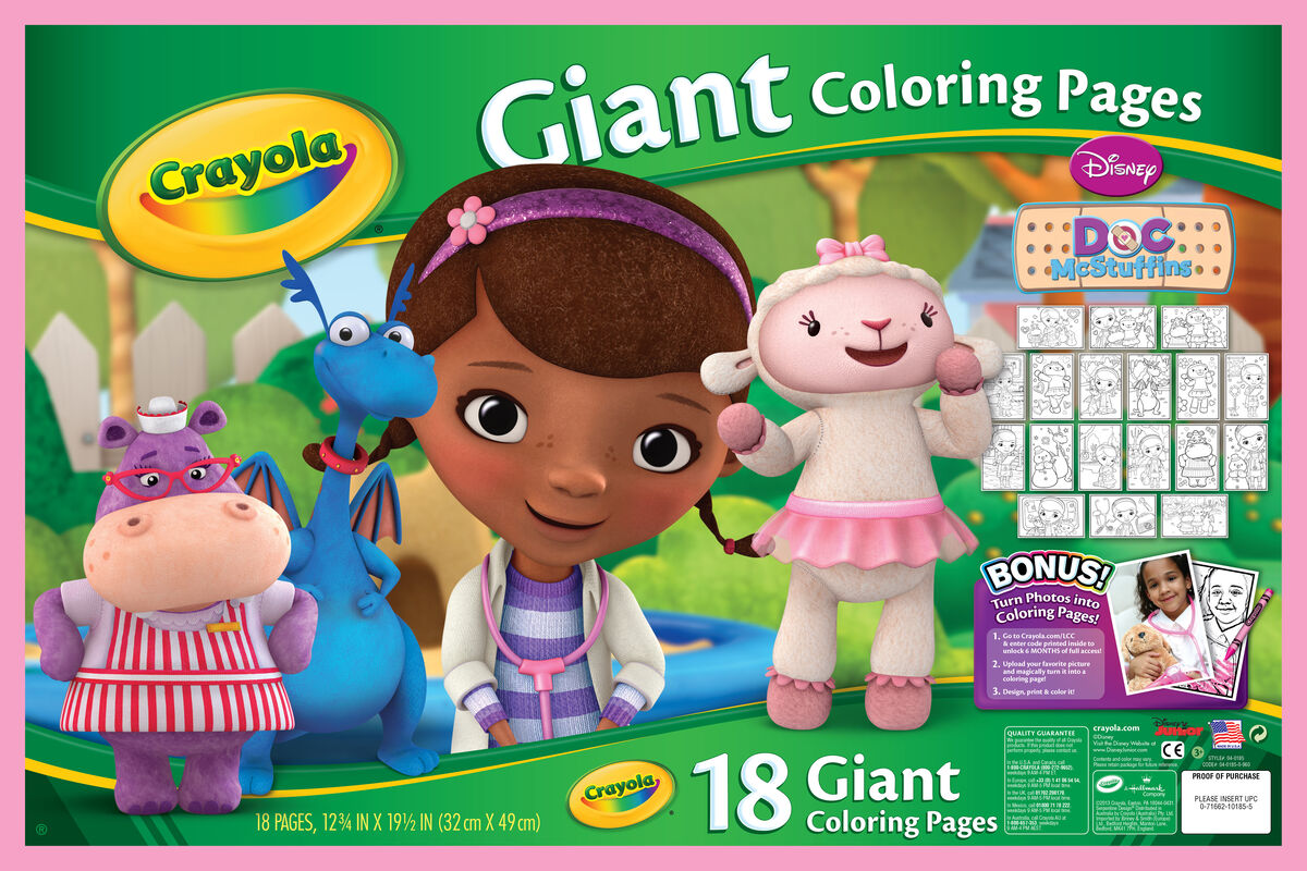 Crayola Giant Coloring Pages Doc Mcstuffins Coloring Pages