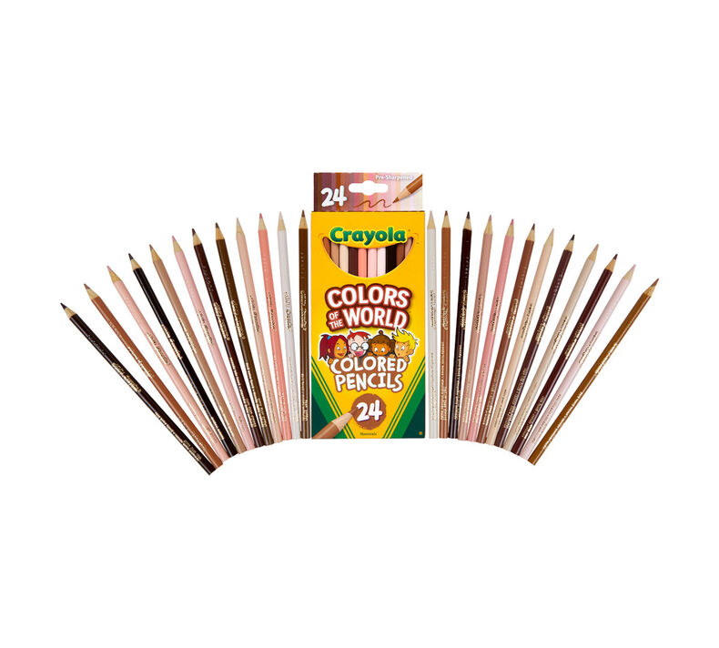 Colors of the World Skin Tone Colored Pencils, 24 Count