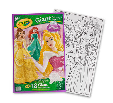 Giant Coloring Pages - Disney Princess | Crayola